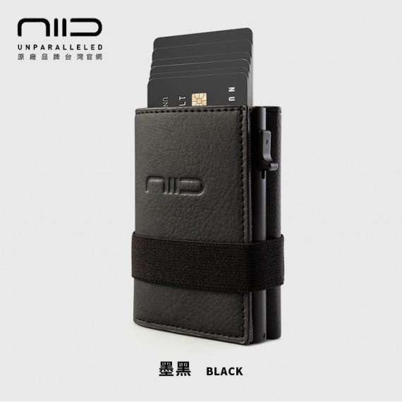 SLIDE II 防盜刷科技皮夾 墨黑色