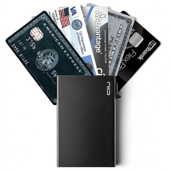 SLIDE Card Protector 半自動防盜卡夾 黑色